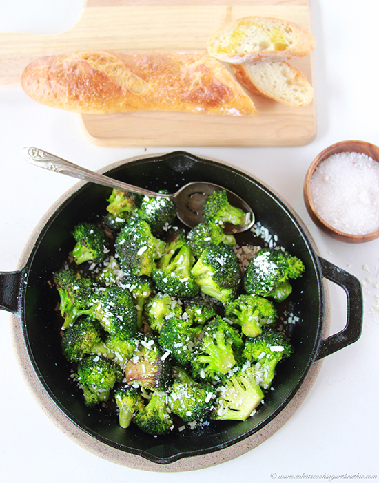 ... browned butter just takes this broccoli dish to a whole new level! Oh