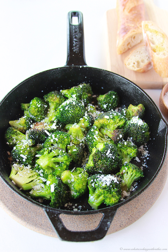 Browned Butter Broccoli and Mizithra Cheese on www.cookingwithruthie ...
