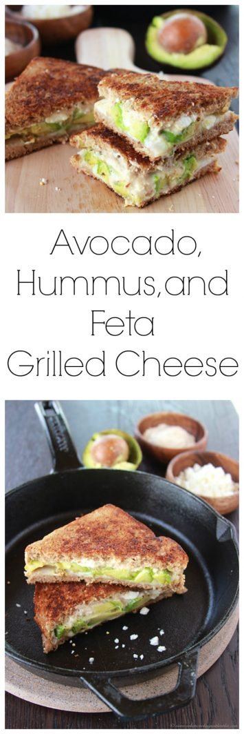 Today's Avocado, Hummus, & Feta Grilled Cheese Recipe is a Mediterranean savory adventure--it'll be your new favorite grilled cheese sandwich! by cookingwithruthie.com