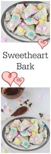 Sweetheart Bark is a quick and easy way to share the love on Valentines Day this year! on www.cookingwithruthie.com