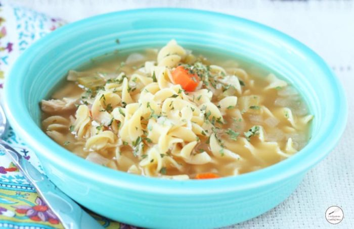 Chicken Noodle Soup Slow Cooker by www.confessionsofacookingqueen.com on www.cookingwithruthie.com will make dinner magical tonight!