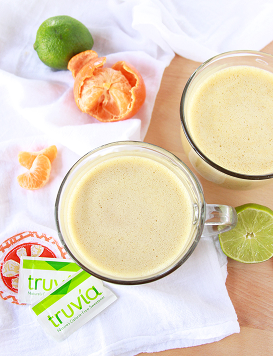 Sunrise Smoothie with @truvia is a healthy, keep-you-full, quick breakfast! #spon