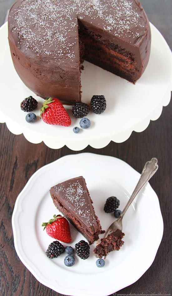 Chocolate Mousse Cake with Fresh Berries makes any occasion special ...