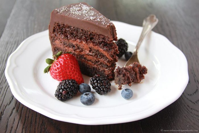Chocolate Mousse Cake with Fresh Berries Cooking With Ruthie