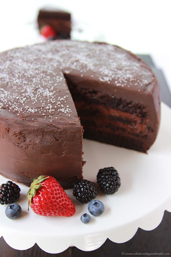 Chocolate Mousse Cake with Fresh Berries - Cooking With Ruthie