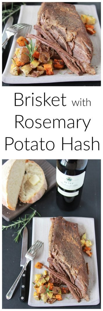 Our Beef Brisket with Rosemary Potatoes Recipe is a savory masterpiece that's so simple to make at home!by cookingwithruthie.com