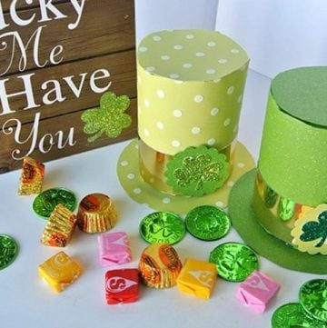 DIY Leprechaun Hats by www.polkadotpoplars.com on www.cookingwithruthie.com is a fun way to celebrate St. Patricks Day!