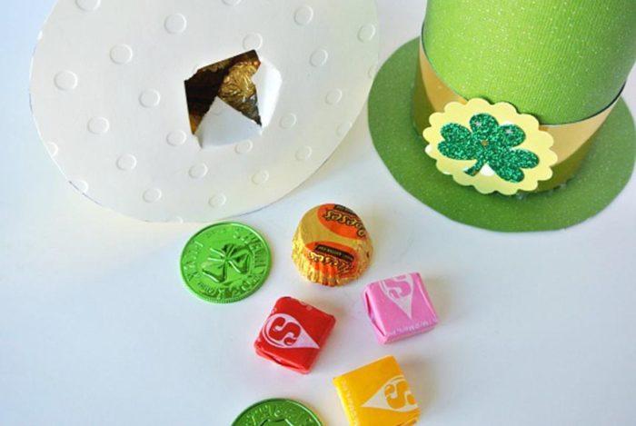 DIY Leprechaun Hats by www.polkadotpoplars.com on www.cookingwithruthie.com is a fun way to celebrate St. Patricks Day!