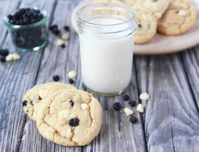 Wild Blueberry and White Chocolate Chip Cookies - Cooking With Ruthie