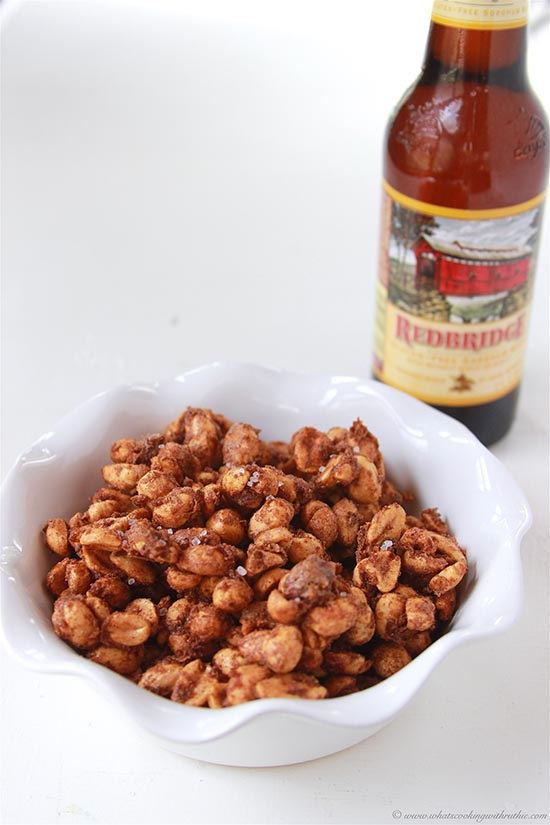Sweet and Salty Peanuts on www.cookingwithruthie.com are delightful for snacking and fabulous for topping your favorite salads or desserts!