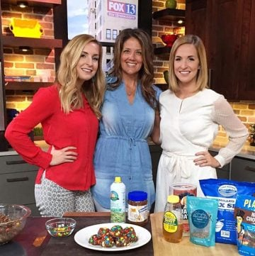 Trail Mix Power Bites on Fox 13 www.cookingwithruthie.com watch Brooke and I make these healthy and delicious on-the-go snack!