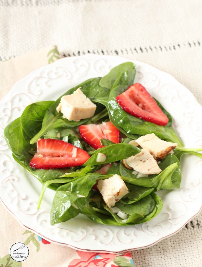 Spring Spinach and Chicken Salad
