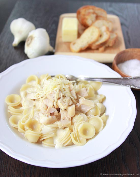 Browned Butter Alfredo with Chicken and Pasta on www.cookingwithruthie.com easy to make and it'll impress your pickiest guests!