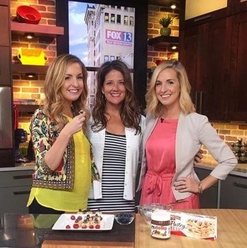 Nutella Pastry Stars on Fox 13 watch Brittney and I make a 3 ingredient simple summer dessert!