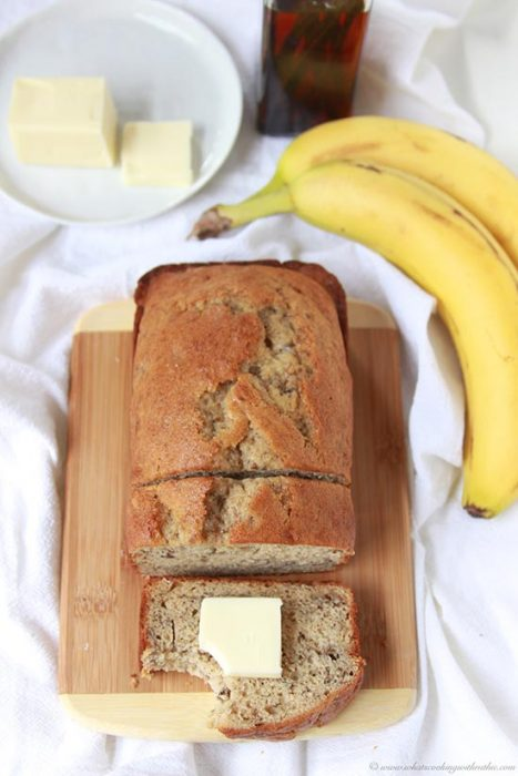 Grams Banana Bread on www.cookingwithruthie.com has connected our family for generations!