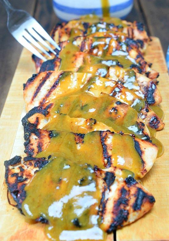 *honey-mustard-marinade-over-grilled-chicken