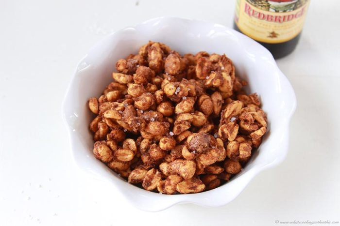 Today's Sweet and Salty Peanuts Recipe are delightful for snacking and fabulous for topping off your favorite salads or desserts! by cookingwithruthie.com