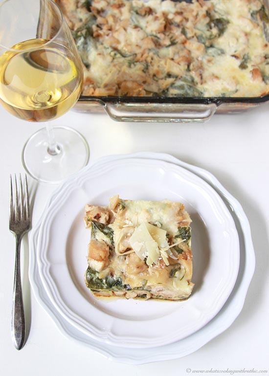 White Chicken Spinach Lasagna