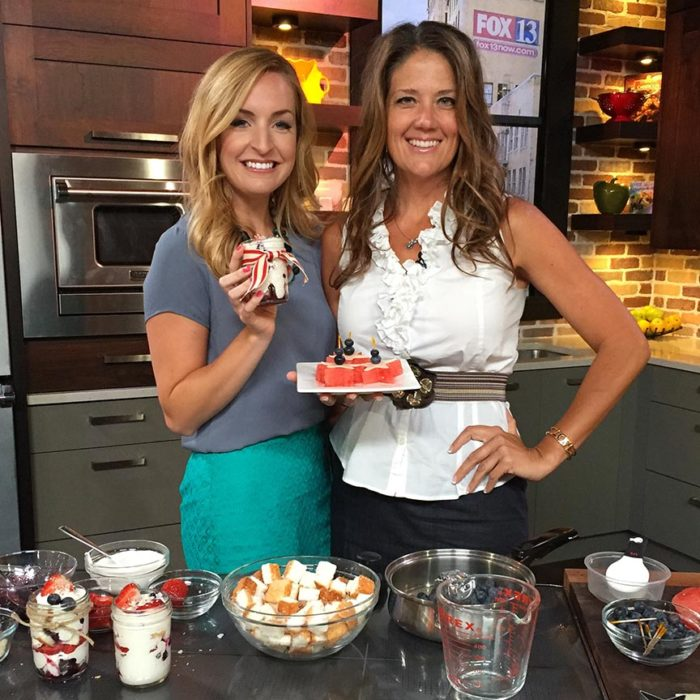 Patriotic Yummies on Fox 13 watch Brittney and I make delicious patriotic recipes!