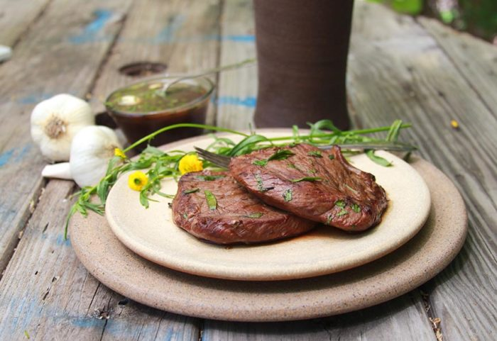 Grilled Tarragon Garlic Steak on www.cookingwithruthie.com will be your go to recipe for grilling!