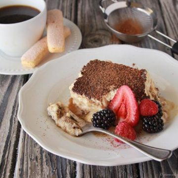 Classic Tiramisu on www.cookingwithruthie.com is a decadent Italian dessert!