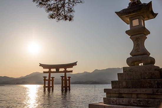 *Sunrise in Miyajima, Japan