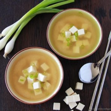 Japanese Miso Soup on www.cookingwithruthie.com is a staple recipe in Japan plus we'll enjoy a taste of the Japanese culture! #culinaryjourney