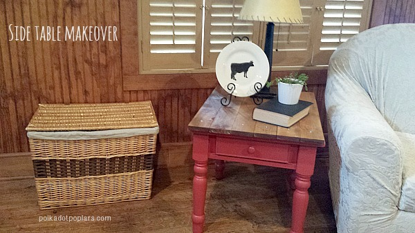 Side Table Makeover by www.polkadotpoplar.com on www.cookingwithruthie.com a awesome tutorial to do it yourself too!