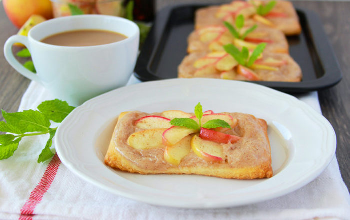 Apple Cinnamon Cream Cheese Pastries Recipe are filled with all the flavors and aromas of autumn! by cookingwithruthie.com