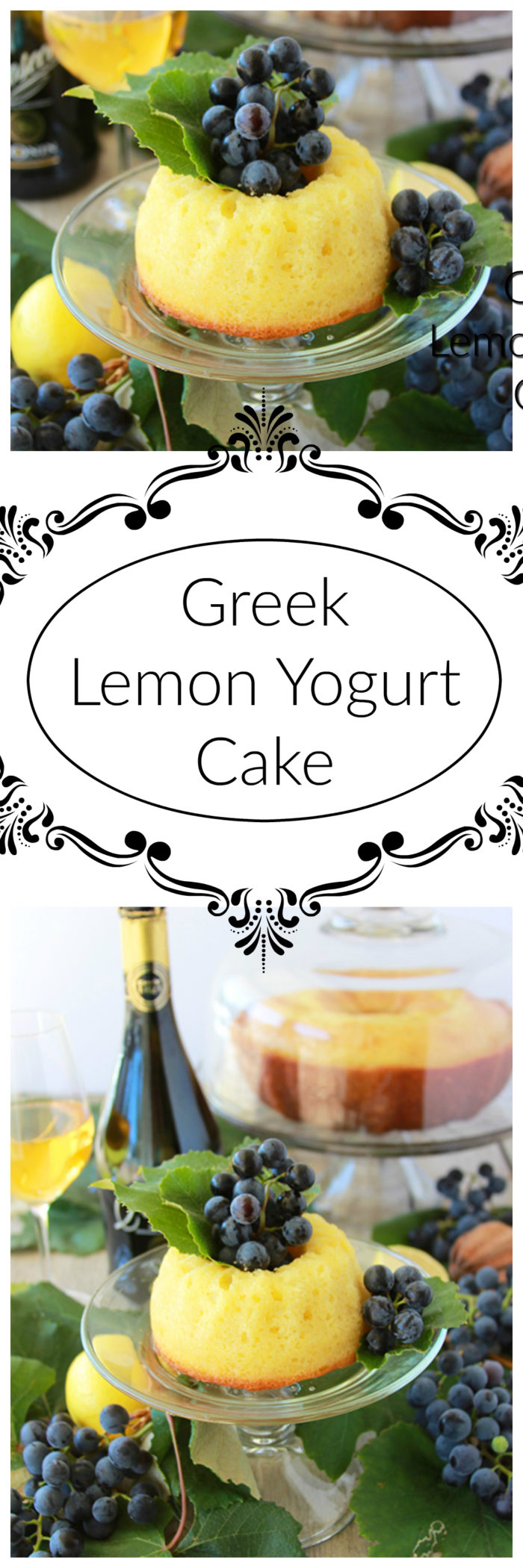 Greek Lemon Yogurt Cake on www.cookingwithruthie.com is a wonderfully moist cake called Yaourtopita in Greece is even better the day after it's made!