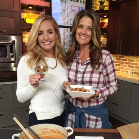 Skinny Tomato Basil Soup on Fox 13 on www.cookingwithruthie.com
