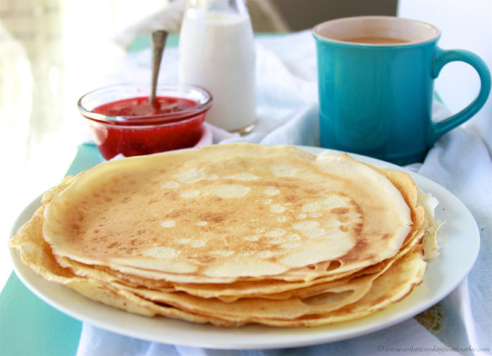 Our French Pâte à Crêpes Recipe is the classical french pancake batter for crepes! by cookingwithruthie.com