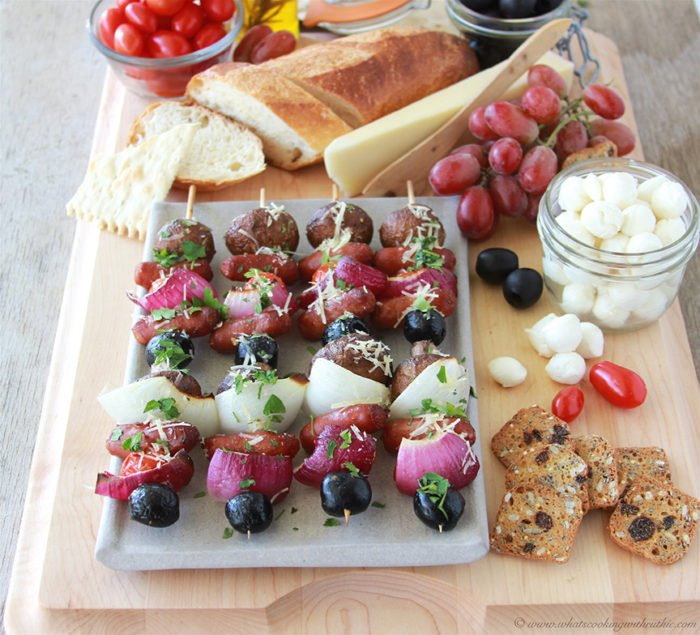 Italian Charcuterie Board on www.cookingwithruthie.com a simple appetizer board for all your holiday parties! #clubtysontwist #spon @samsclub