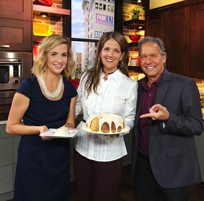 Eggnog Bundt Cake with Eggnog Frosting on FOX13 the perfect cake for all your holiday parties!