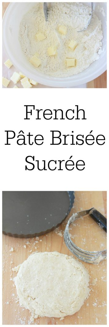 French Pâte Brisée Sucrée on www.cookingwithruthie.com is a simple to makes sweet dough for tarts and other desserts!