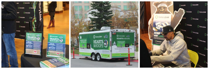 Hearts & Hoops with Centurylink a holiday food drive to benefit the Utah Food Bank! #spon @centurylinkut