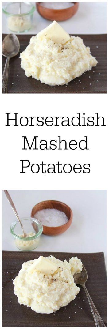Horseradish Mashed Potatoes on www.cookingwithruthie.com are a must try for your holiday feasting this year!