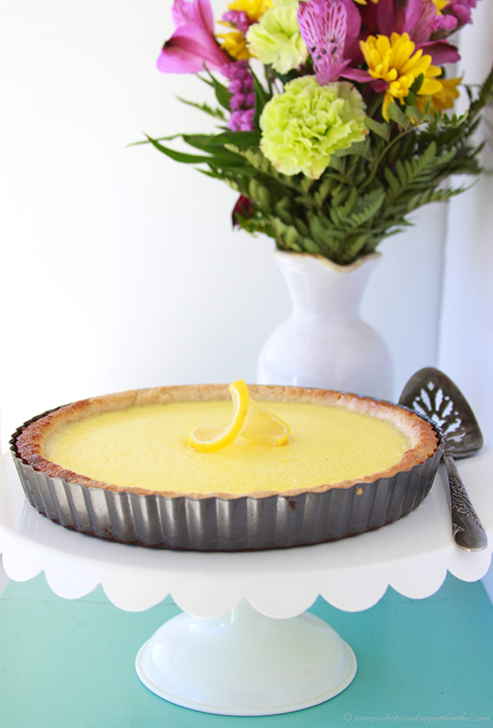 French Tarte Au Citron (Lemon Tart) on www.cookingwithruthie.com is so impressive people will think it came from a bakery!