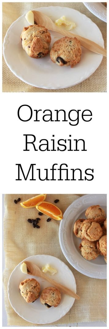 Orange Raisin Muffins on www.cookingwithruthie.com a lovely combination of savory and sweet~ the perfect addition to any meal!