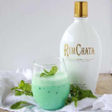 Irish Creme de Menthe Cocktail on www.cookingwithruthie.com is a beautiful way to celebrate the Holidays!