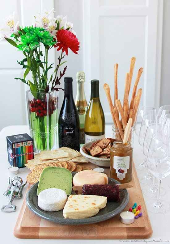 Holiday Wine and Cheese Party is a simple and fun way to celebrate the New Year!