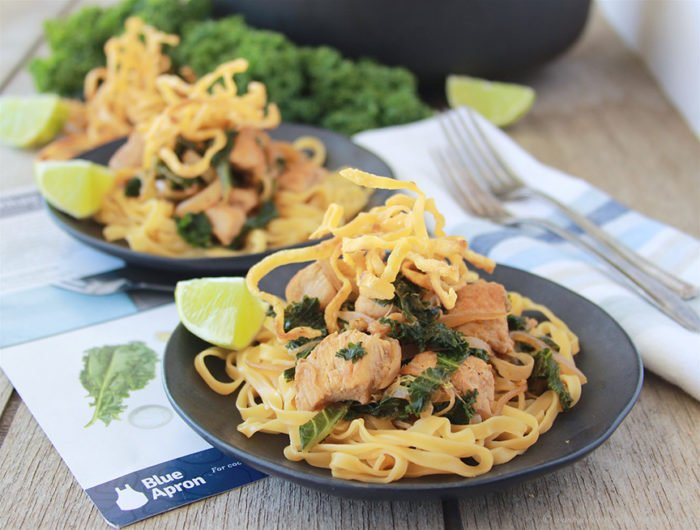 Chicken Khao Soi is a delicious northern Thai meal that's a pleasant way to warm on a cold night! #spon #blueapron www.cookingwithruthie.com