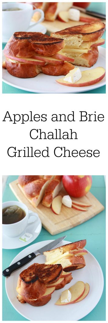 Apples and Brie Challah Grilled Cheese is taking grilled cheese to a new level! www.cookingwithruthie.com