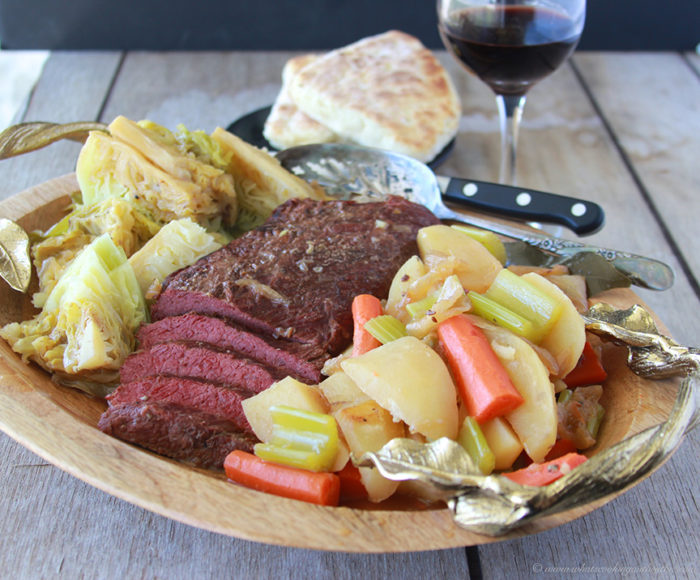 Today's Irish Corned Beef with Cabbage Recipe is a classic Irish dish plus there's no better way to celebrate St. Patricks Day! by cookingwithruthie.com