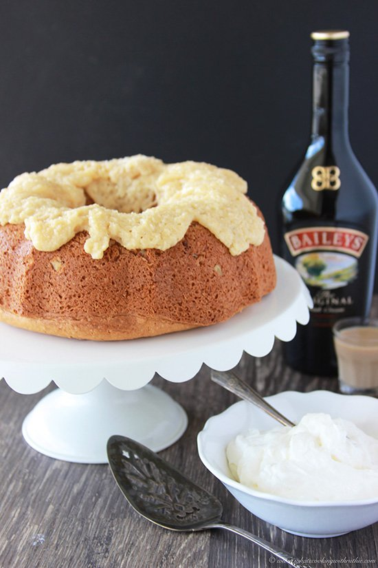 Irish Cream Bundt Cake is a festive dessert for St. Patricks Day! www.cookingwithruthie.com