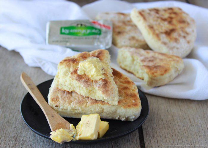 Today's Irish Soda Farls Recipe is a quick and simple soda bread that cooks in a skillet or griddle! by cookingwithruthie.com