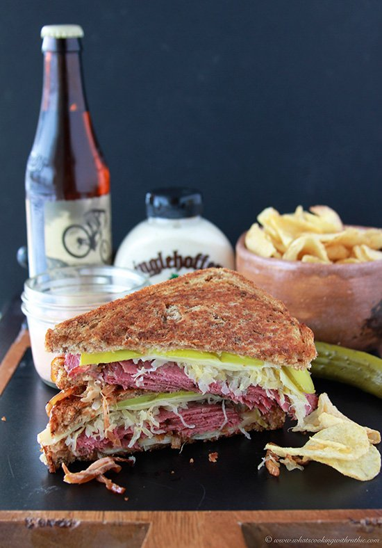 Irish Spicy Reuben Sandwich is AHhhmazing! The secrets in the spicy sauce baby! www.cookingwithruthie.com