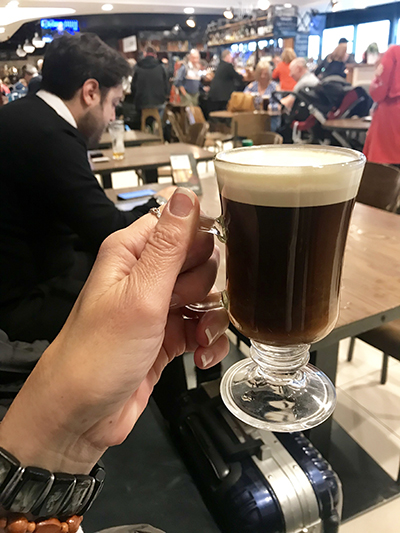 Irish Coffee in Dublin, Ireland Airport! by cookingwithruthie.com