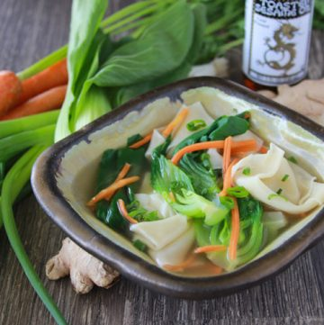 Chinese Wonton Soup and highlights from my stay at the Wencheng Castle, China! www.cookingwithruthie.com #foodbridges