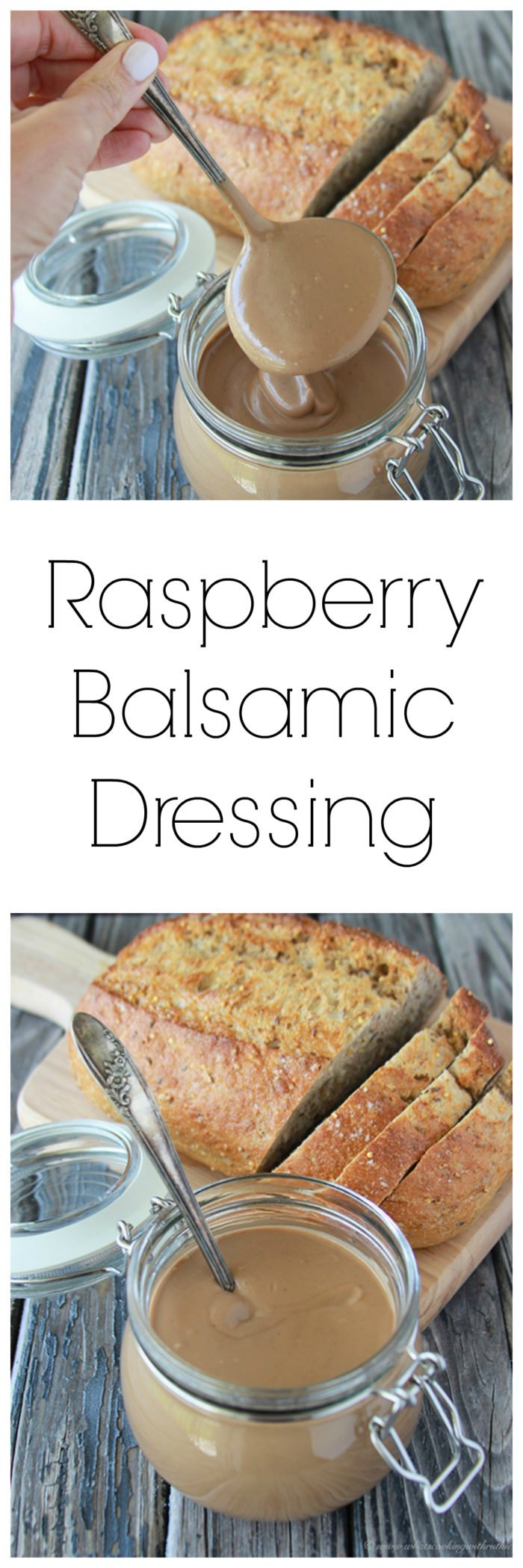 Raspberry Balsamic Vinaigrette is my most favorite salad dressing ever! www.cookingwithruthie.com